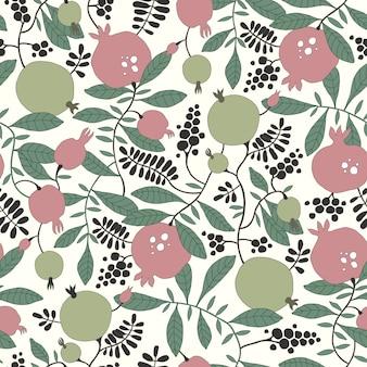 Wzór z granatu i jabłoni
