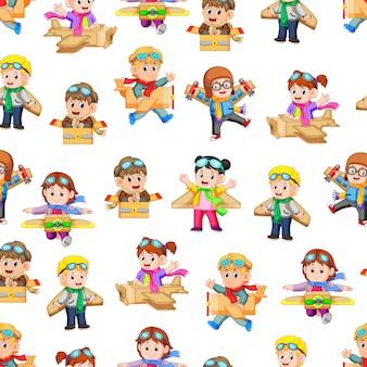 Wzór z gry dla dzieci