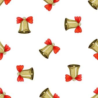 Wzór z ilustracji wektorowych dzwonek świąteczny