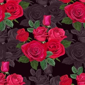Wzór z ilustracji wektorowych kwiat róży