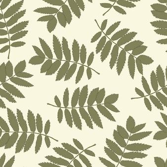 Wzór z jesiennych liści jarzębiny