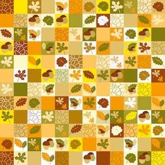 Wzór z jesiennych liści.
