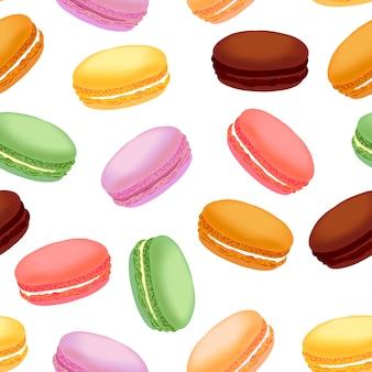 Wzór z kolorowe makaroniki