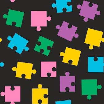 Wzór z kolorowymi puzzlami wektor wzór dla dzieci