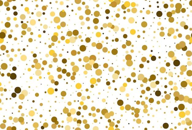 Wzór z konfetti w złote kropki. złote kropki konfetti bezszwowe tło