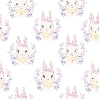Wzór z kreskówka króliczek. wzór dla dzieci.