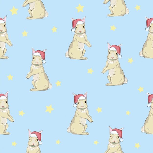 Wzór z kreskówka króliczek. wzór niemowlęcy.