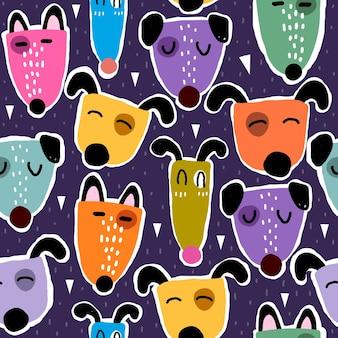 Wzór z kreskówkowymi psami