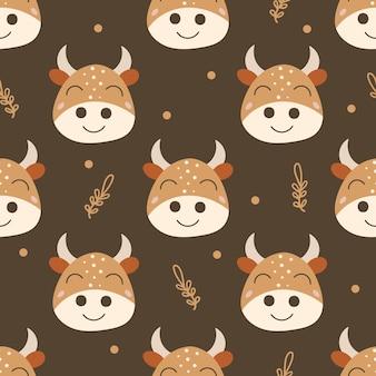 Wzór z krowami.
