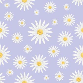 Wzór z kwiatami stokrotki