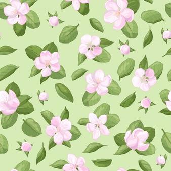 Wzór z kwiatów jabłoni