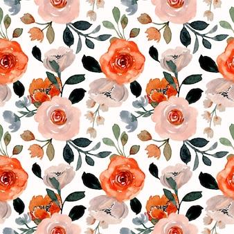 Wzór z kwiatową akwarelą