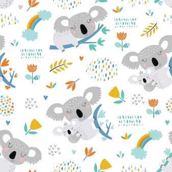 Wzór z ładny koala.