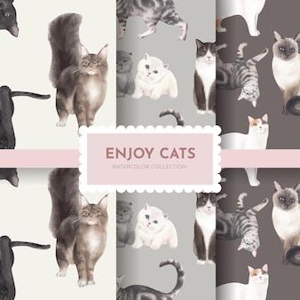 Wzór z ładny kot