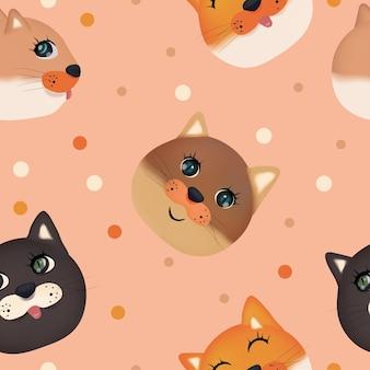 Wzór z ładny kotek
