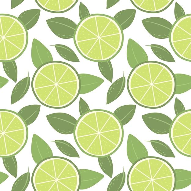 Wzór z limonkami jasny wzór na tapetę i papier vector paper