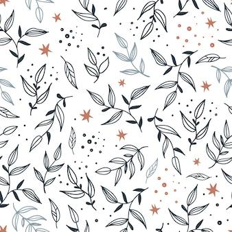 Wzór z liśćmi