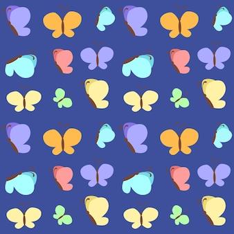Wzór z motylami
