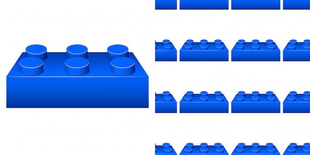Wzór z niebieskim blokiem