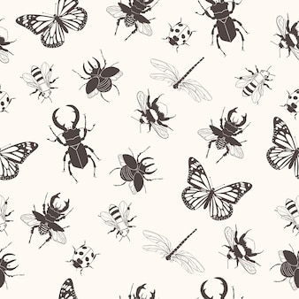 Wzór z owadami.