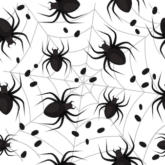 Wzór z pająkami na halloween
