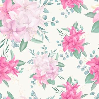 Wzór z pięknym kwiatowym