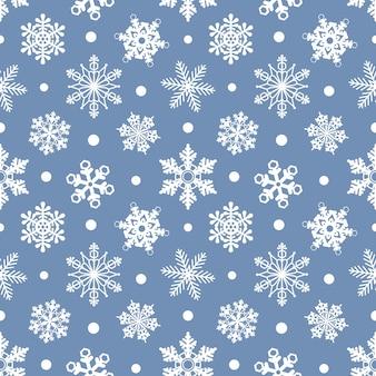 Wzór z płatkami śniegu świąteczna lub zimowa tekstura