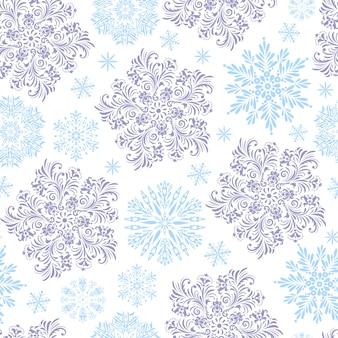 Wzór z płatkami śniegu