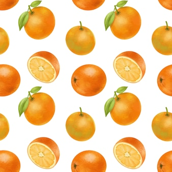 Wzór z ręcznie rysowane pomarańczy