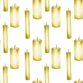 Wzór z ręcznie rysowane świece