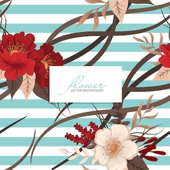 Wzór z ręki rysunek dzikie kwiaty