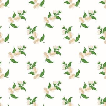 Wzór z roślin liść botaniczny kwiat