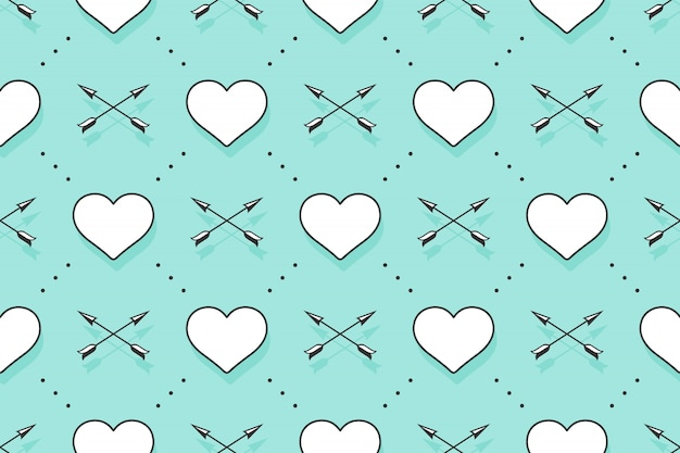 Wzór z serca i strzały