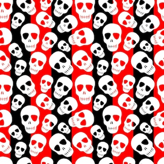 Wzór z skullsdesign na halloween