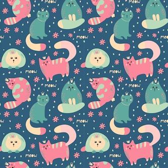 Wzór z słodkie koty.