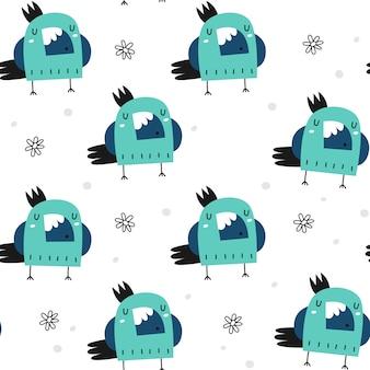Wzór z słodkie papugi