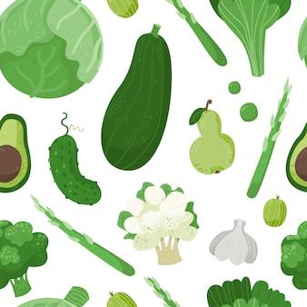Wzór z słodkie warzywa