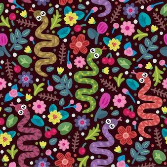 Wzór z słodkie węże