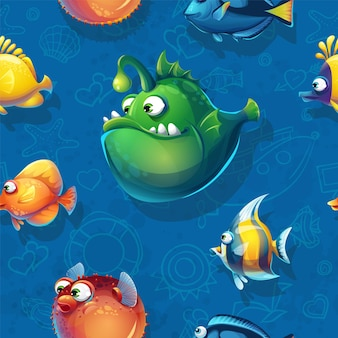 Wzór z śmieszne ryby.