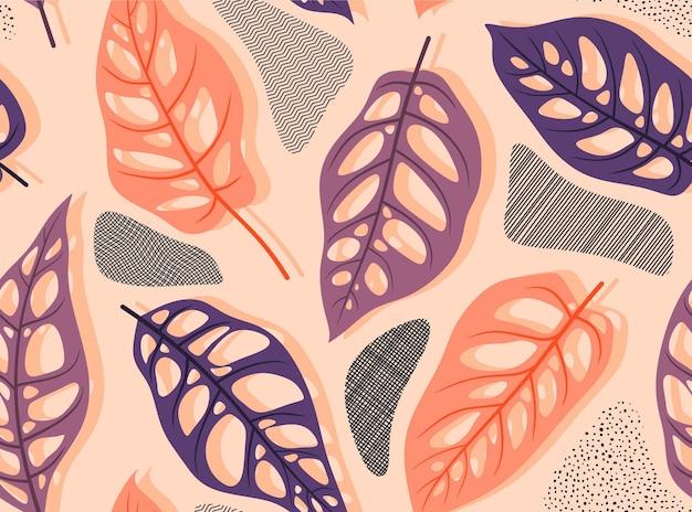 Wzór z streszczenie liści.