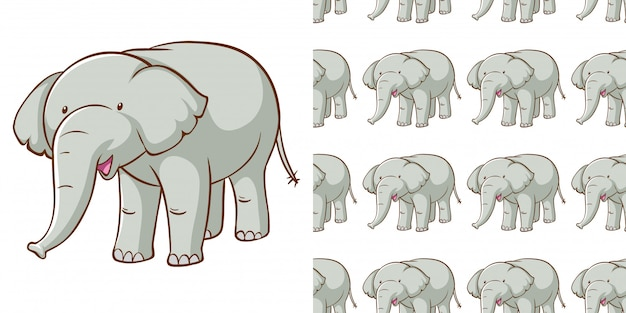 Wzór z szarym wzorem słonia