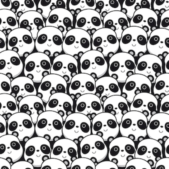 Wzór z twarzy panda