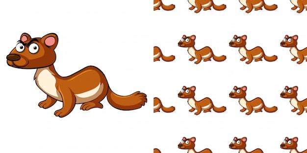 Wzór z wydrą brązowy