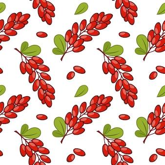 Wzór z wzorem gałązek berberysu. tło dla papieru do pakowania. nadruk na odzież . nadruk na tkaninie.