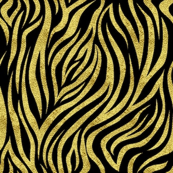 Wzór z zebry złote plamy. tło dla produktów drukowanych, stron internetowych, pocztówek, banerów itp.
