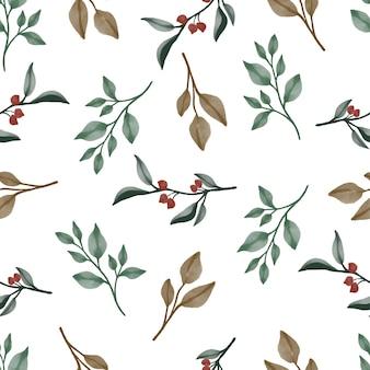 Wzór z zielonych i brązowych liści