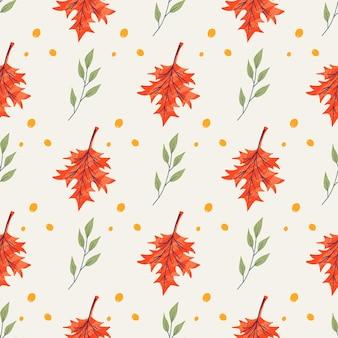 Wzór z żołędzi i liści klonu, dębu, jesionu. jesienny szablon tła ozdobiony modnymi elementami. płaska naturalna ilustracja wektorowa do reklamy, promocji