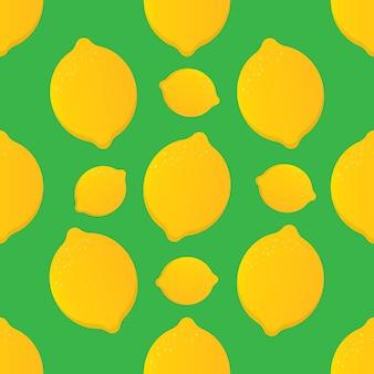 Wzór z żółtymi cytrynami