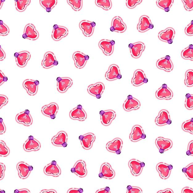 Wzór żarówki serca. walentynki