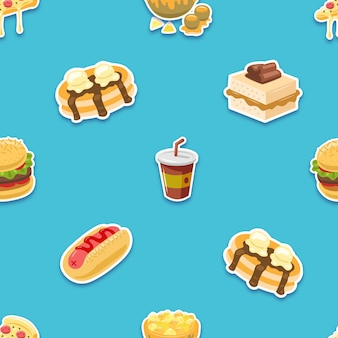 Wzór ze słonym jedzeniem